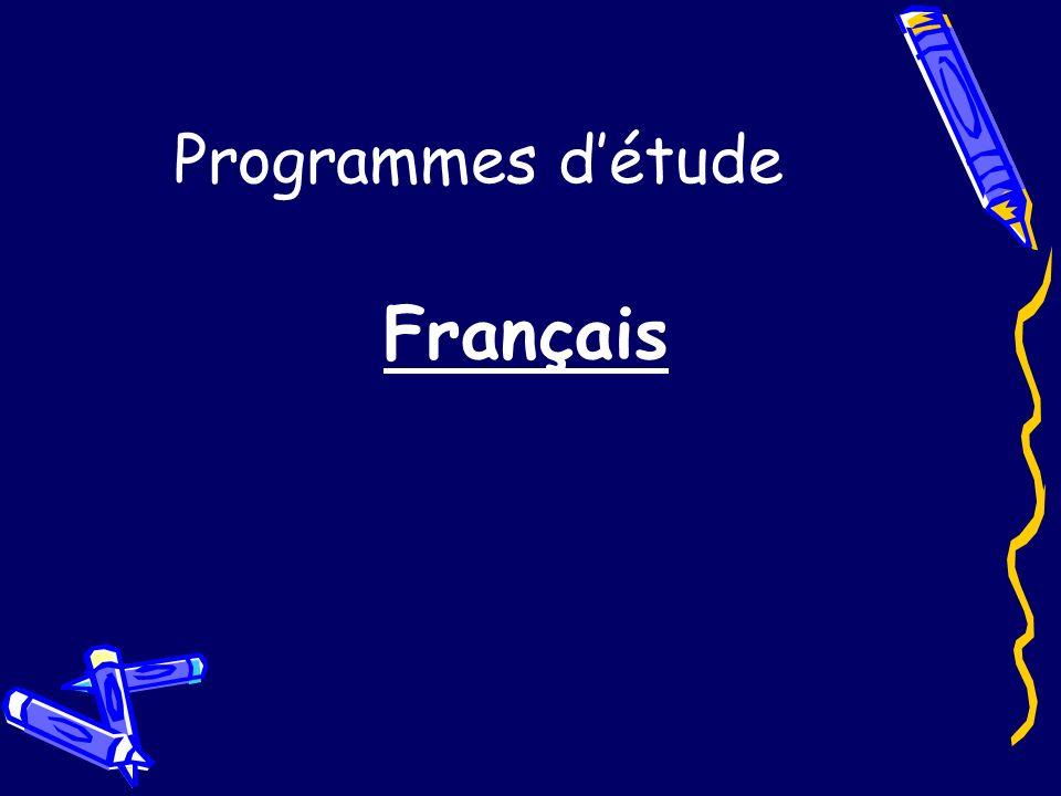 Programmes d'étude Français