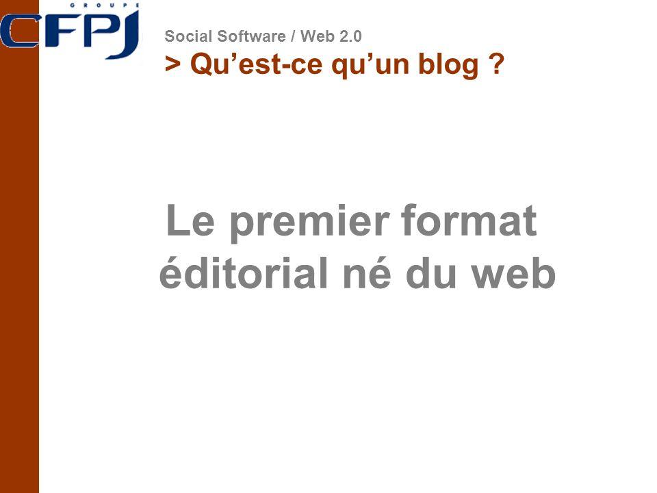Le premier format éditorial né du web