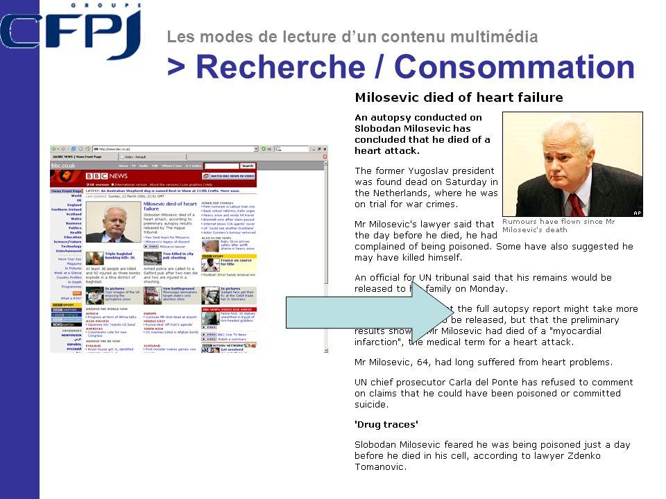 > Recherche / Consommation