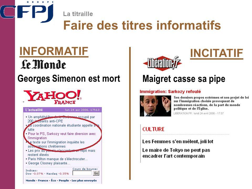 INFORMATIF INCITATIF Georges Simenon est mort Maigret casse sa pipe