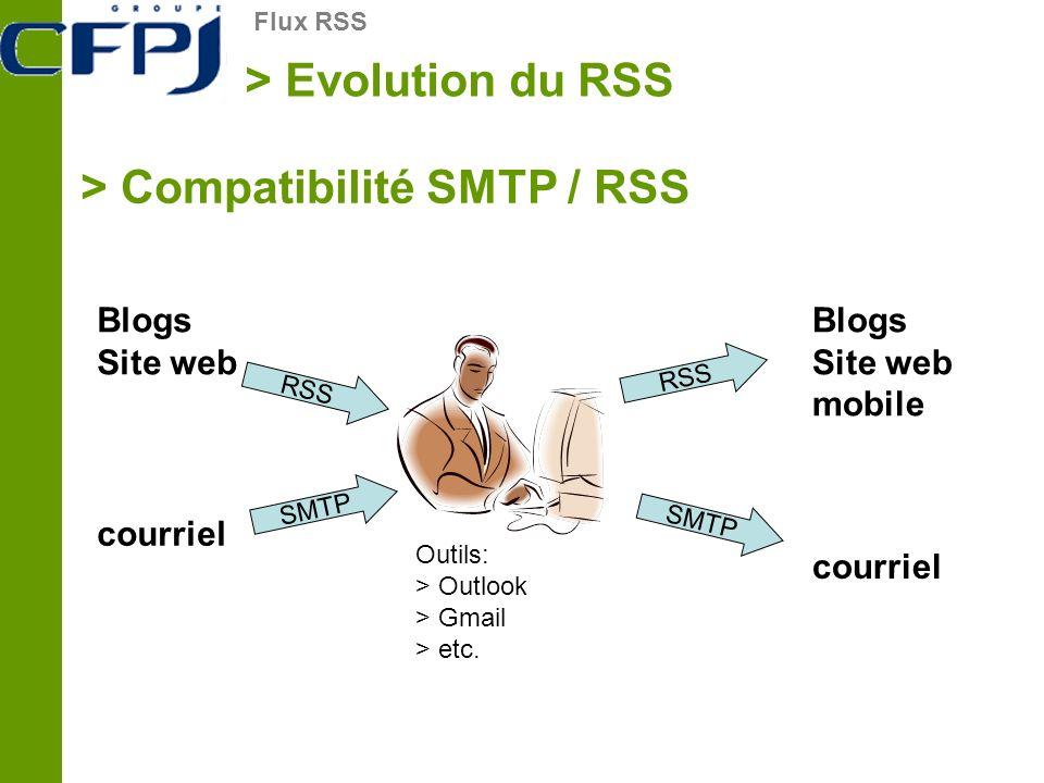 > Compatibilité SMTP / RSS