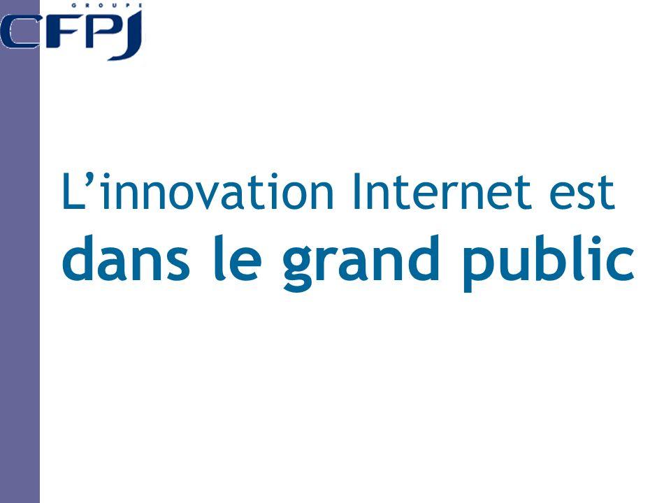 L'innovation Internet est dans le grand public