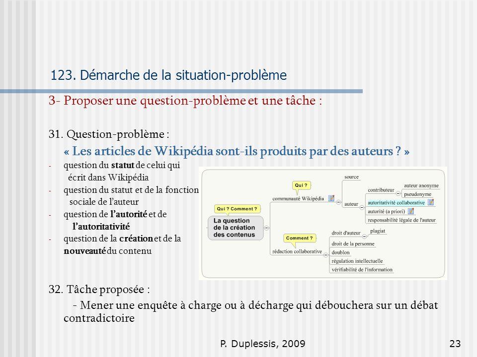 123. Démarche de la situation-problème