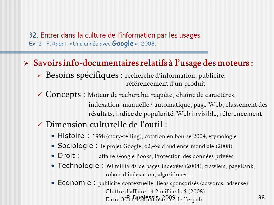 Savoirs info-documentaires relatifs à l'usage des moteurs :