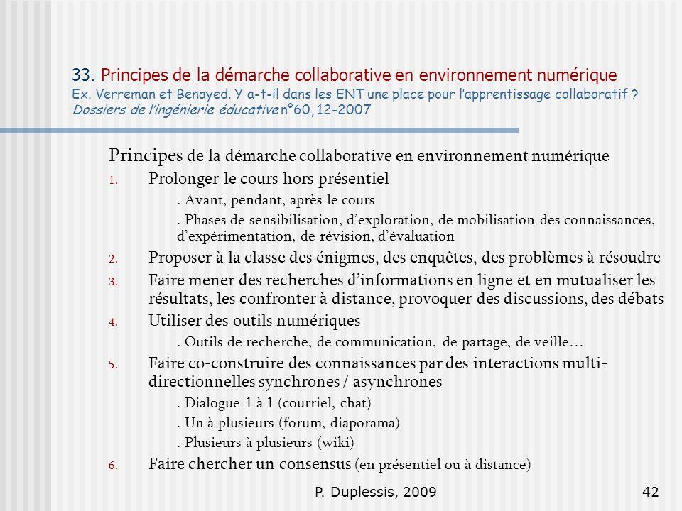 Principes de la démarche collaborative en environnement numérique