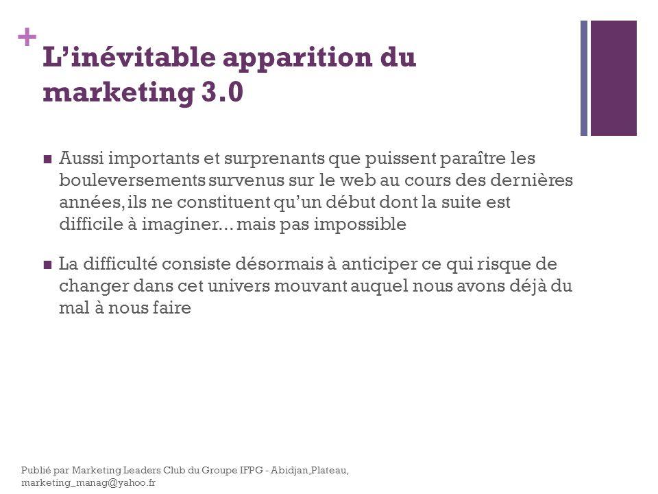 L'inévitable apparition du marketing 3.0