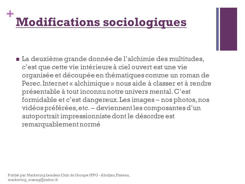 Modifications sociologiques