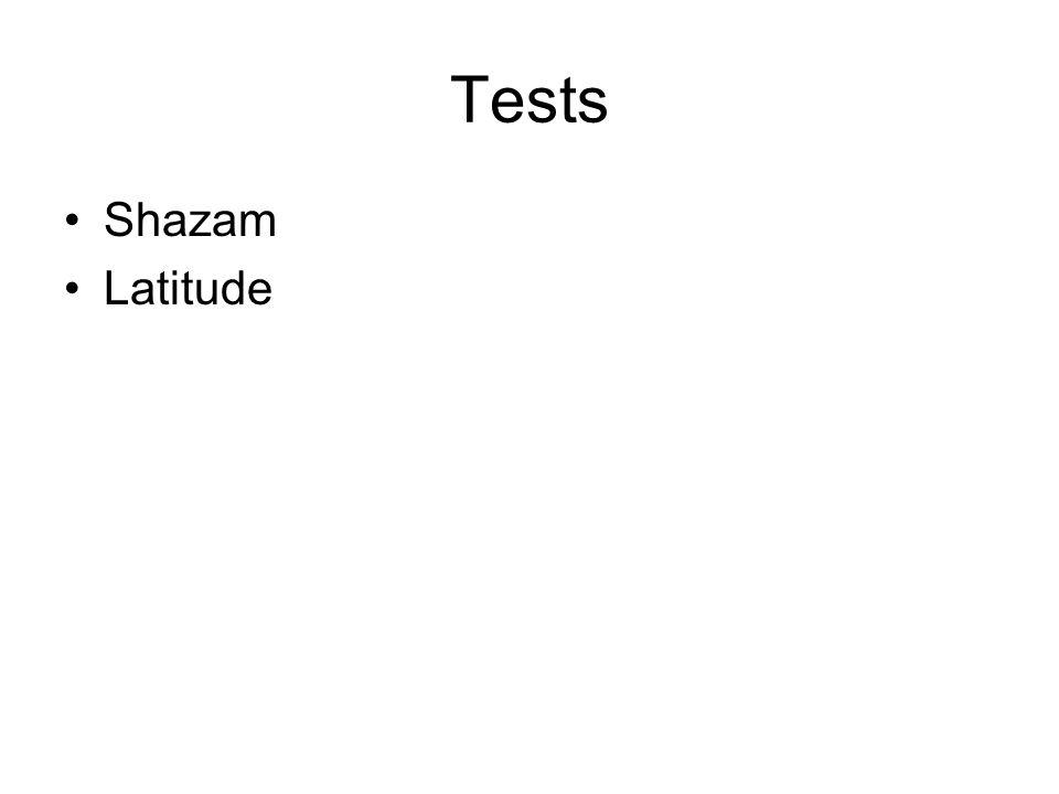 Tests Shazam Latitude