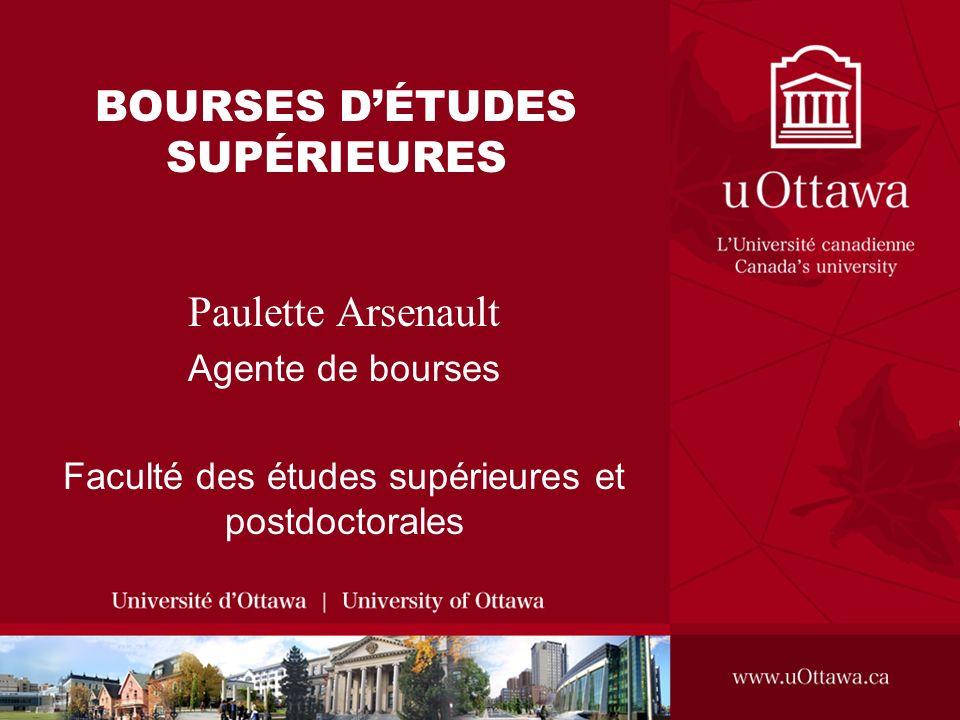 BOURSES D'ÉTUDES SUPÉRIEURES