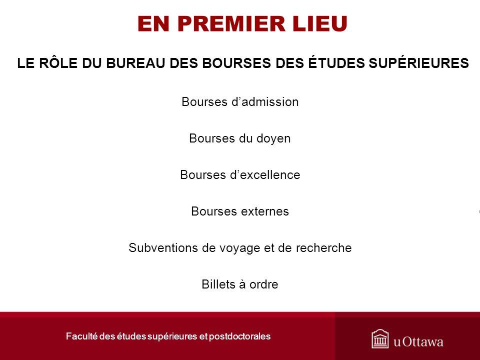 LE RÔLE DU BUREAU DES BOURSES DES ÉTUDES SUPÉRIEURES