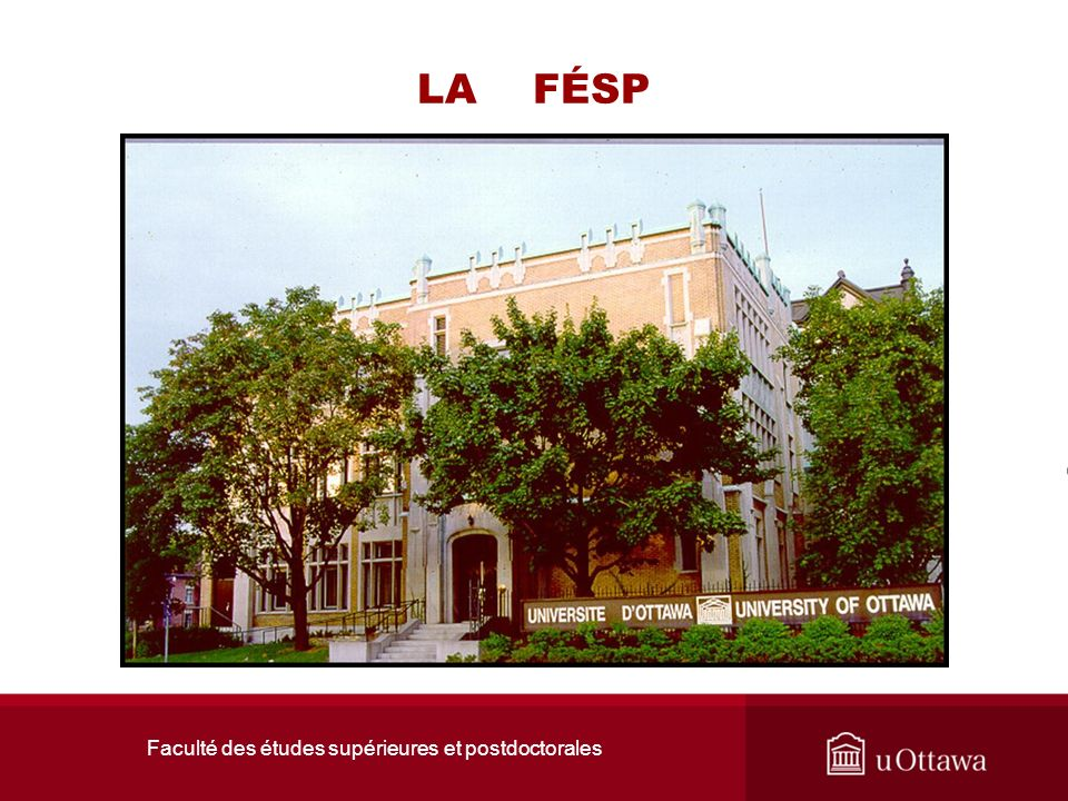 Faculté des études supérieures et postdoctorales