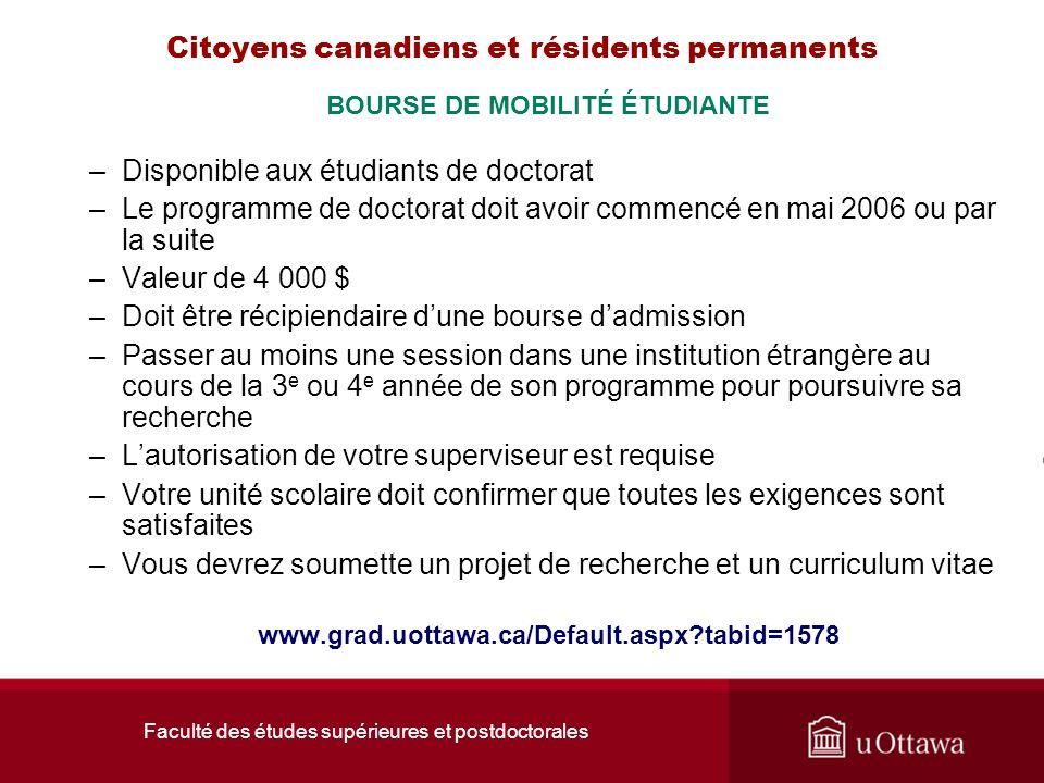 Citoyens canadiens et résidents permanents