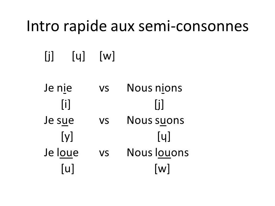 Intro rapide aux semi-consonnes