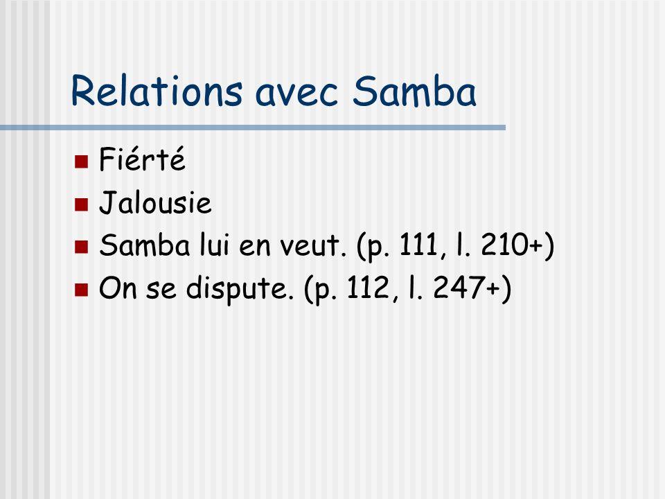 Relations avec Samba Fiérté Jalousie
