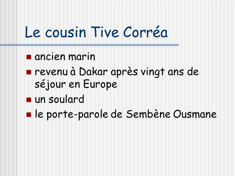 Le cousin Tive Corréa ancien marin