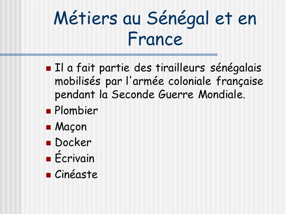 Métiers au Sénégal et en France