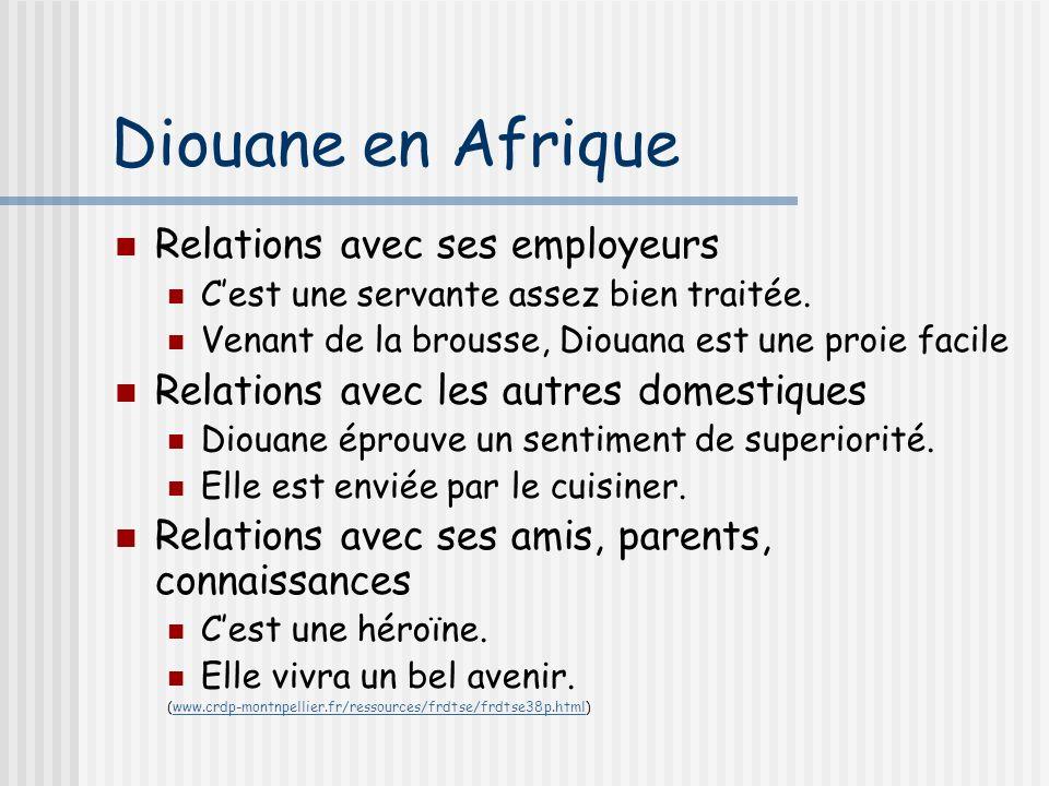 Diouane en Afrique Relations avec ses employeurs