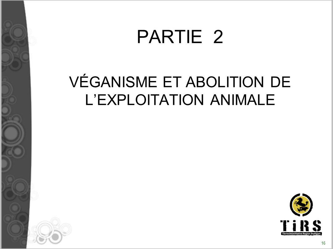 VÉGANISME ET ABOLITION DE L'EXPLOITATION ANIMALE