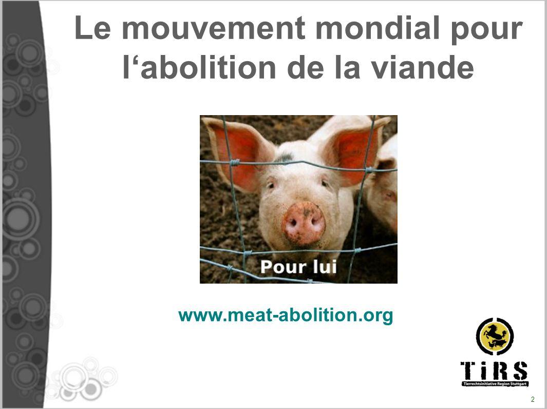 Le mouvement mondial pour l'abolition de la viande
