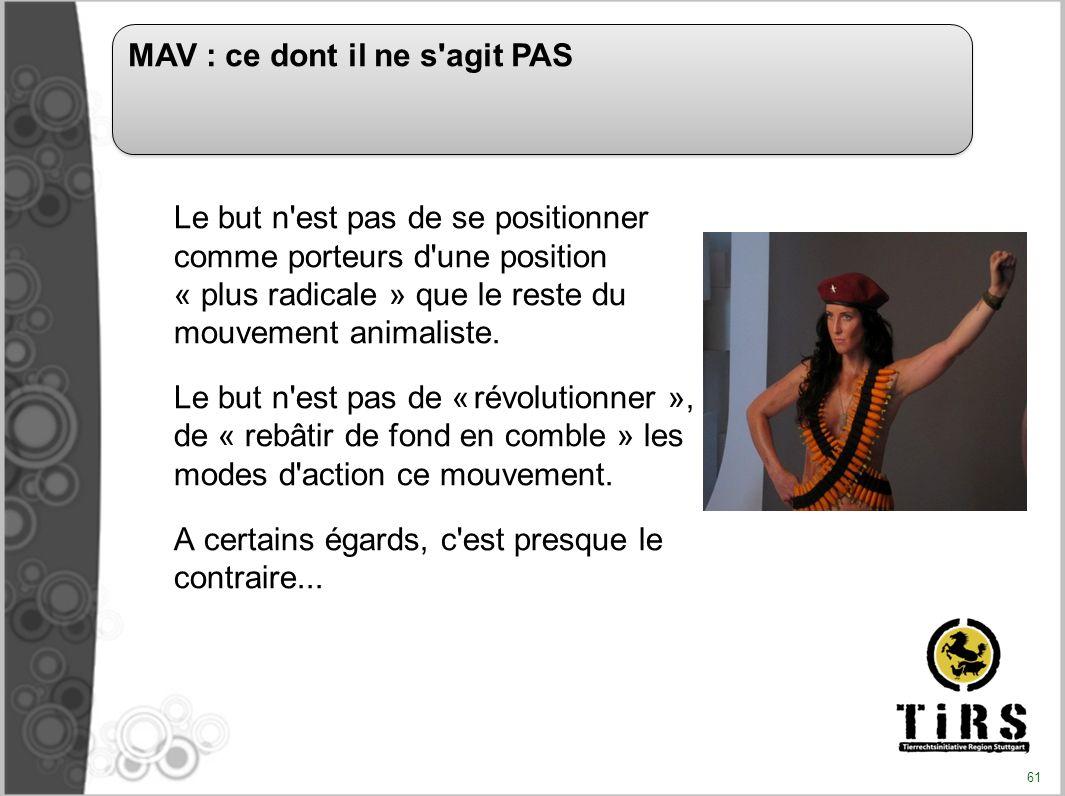 MAV : ce dont il ne s agit PAS