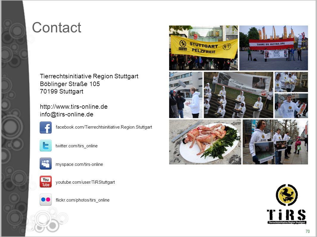Contact Tierrechtsinitiative Region Stuttgart Böblinger Straße 105
