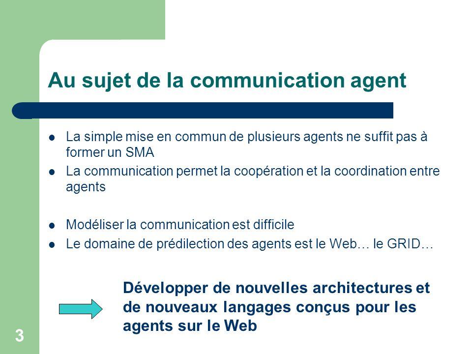 Au sujet de la communication agent