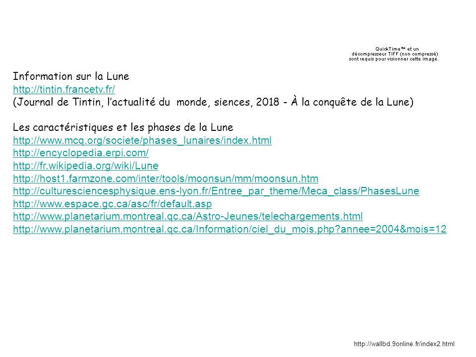 Information sur la Lune http://tintin.francetv.fr/