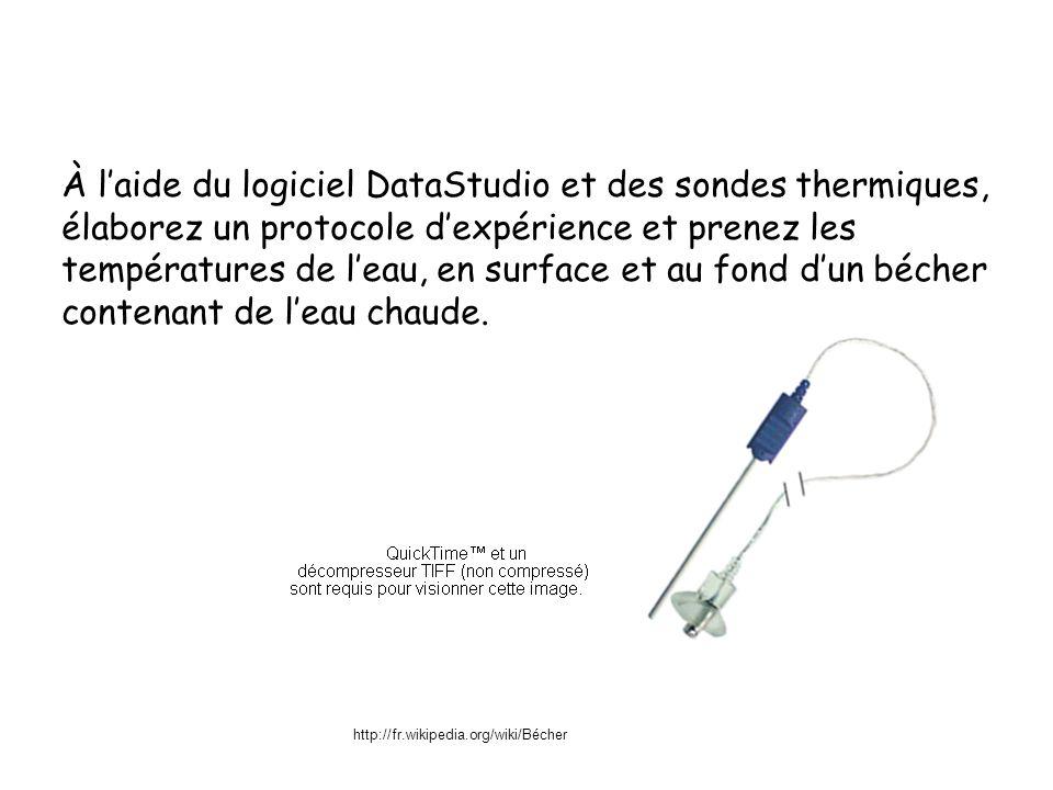 À l'aide du logiciel DataStudio et des sondes thermiques,