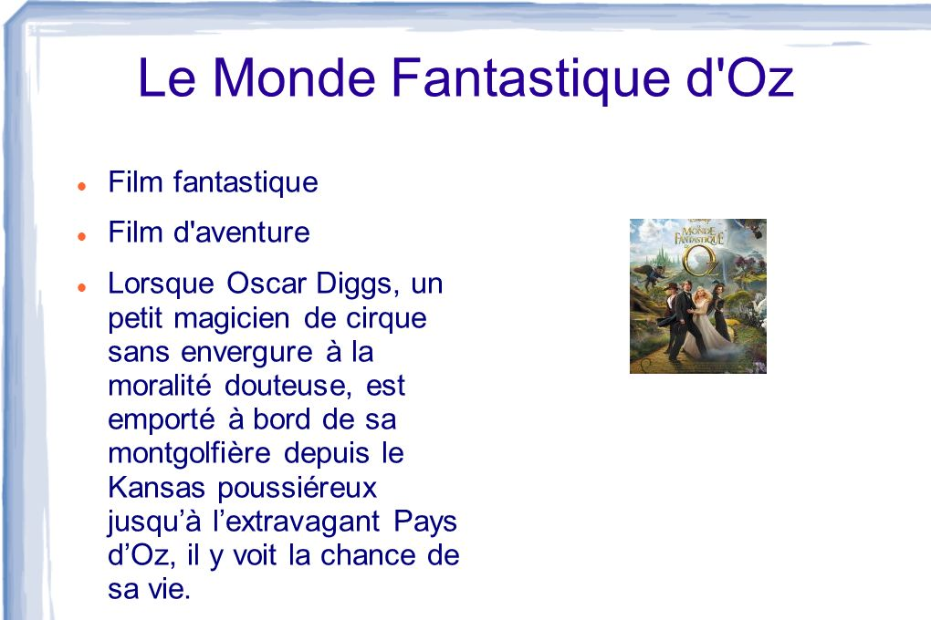 Le Monde Fantastique d Oz