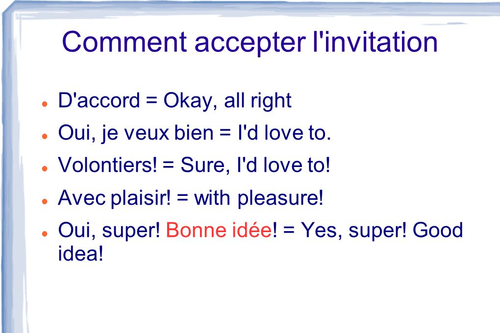 Comment accepter l invitation