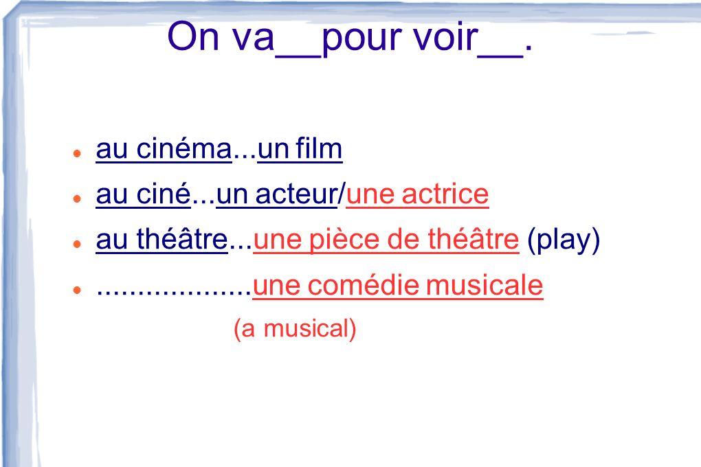 On va__pour voir__. au cinéma...un film