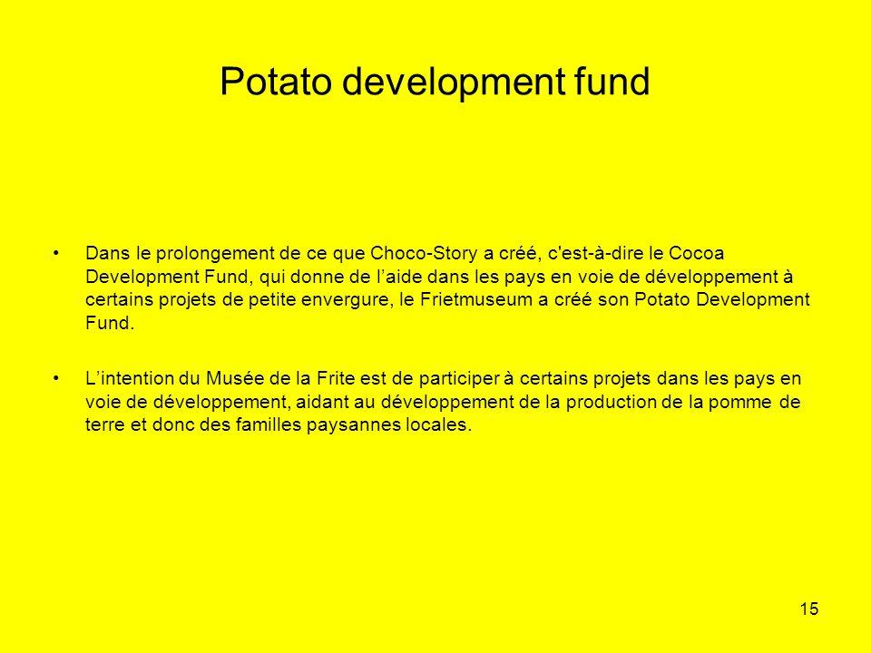 Potato development fund