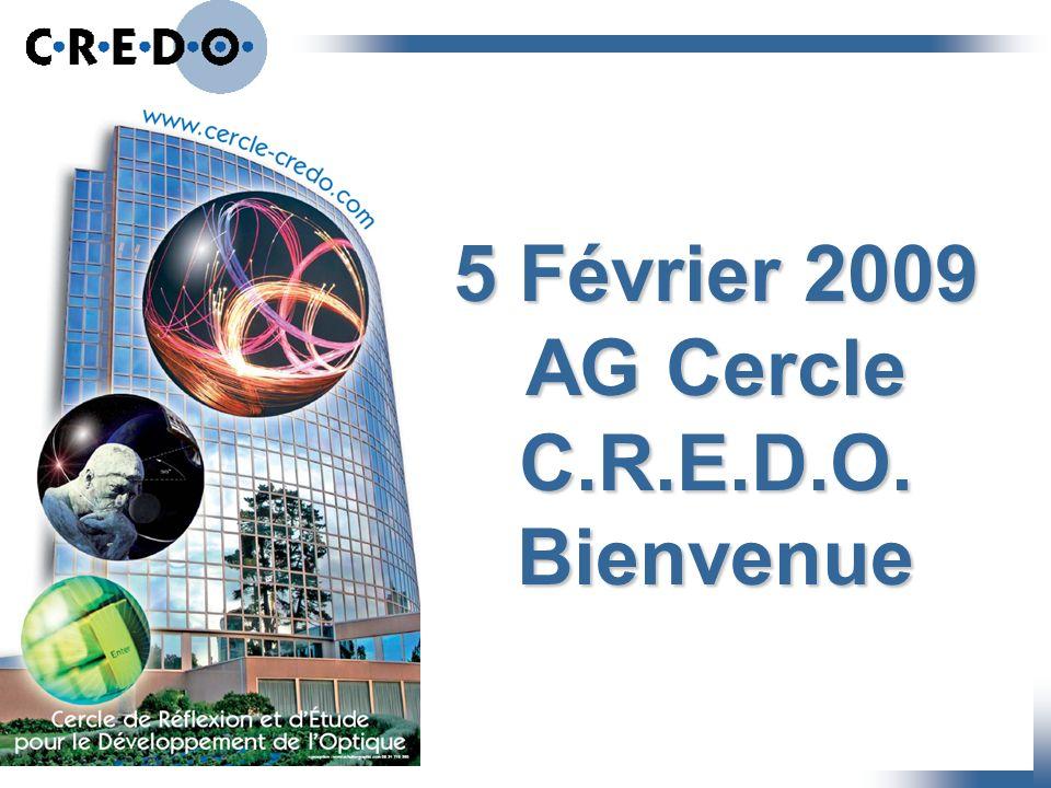 5 Février 2009 AG Cercle C.R.E.D.O. Bienvenue