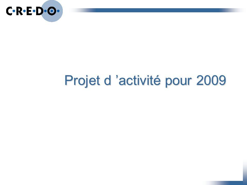 Projet d 'activité pour 2009