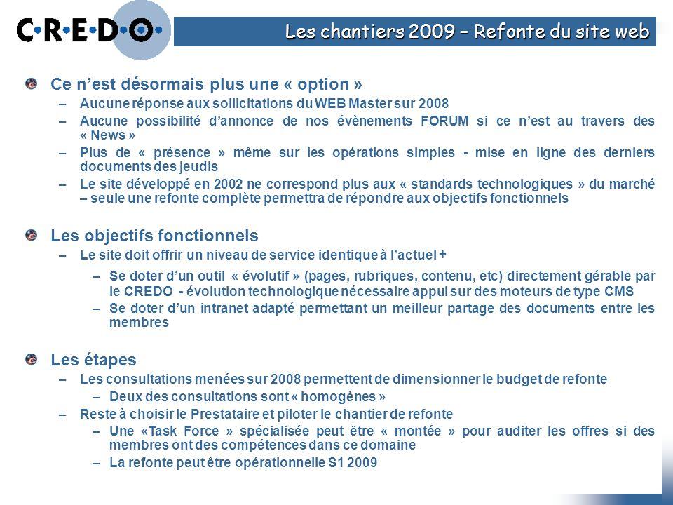 Les chantiers 2009 – Refonte du site web