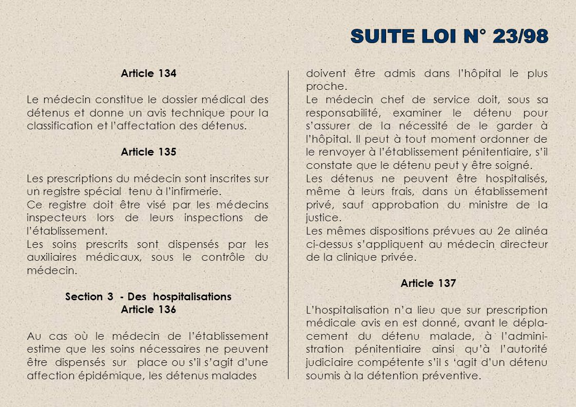 Section 3 - Des hospitalisations
