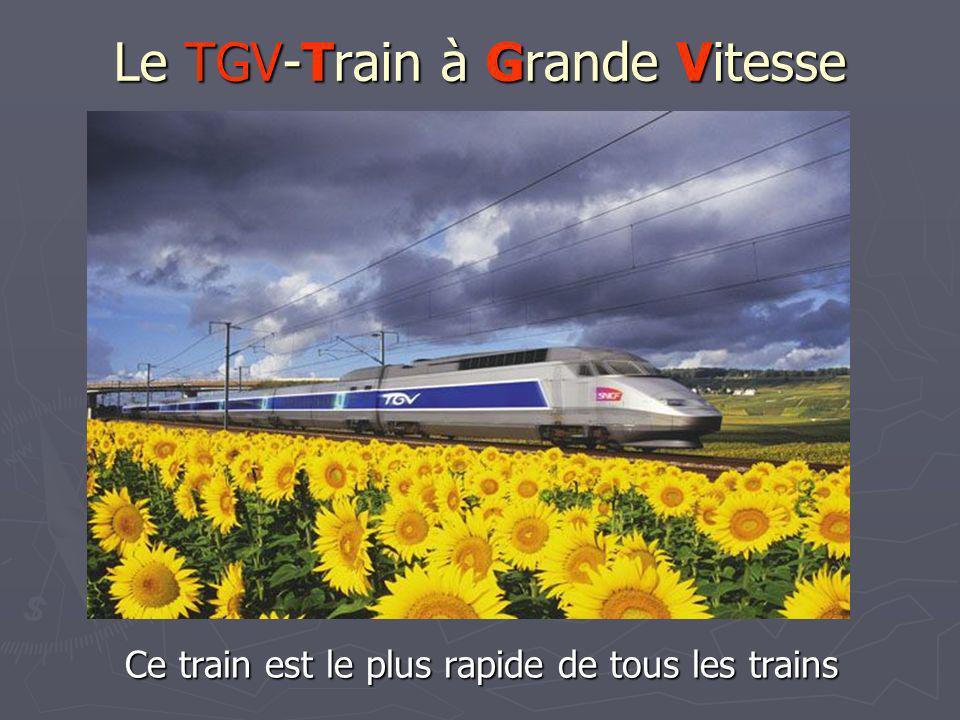 Le TGV-Train à Grande Vitesse