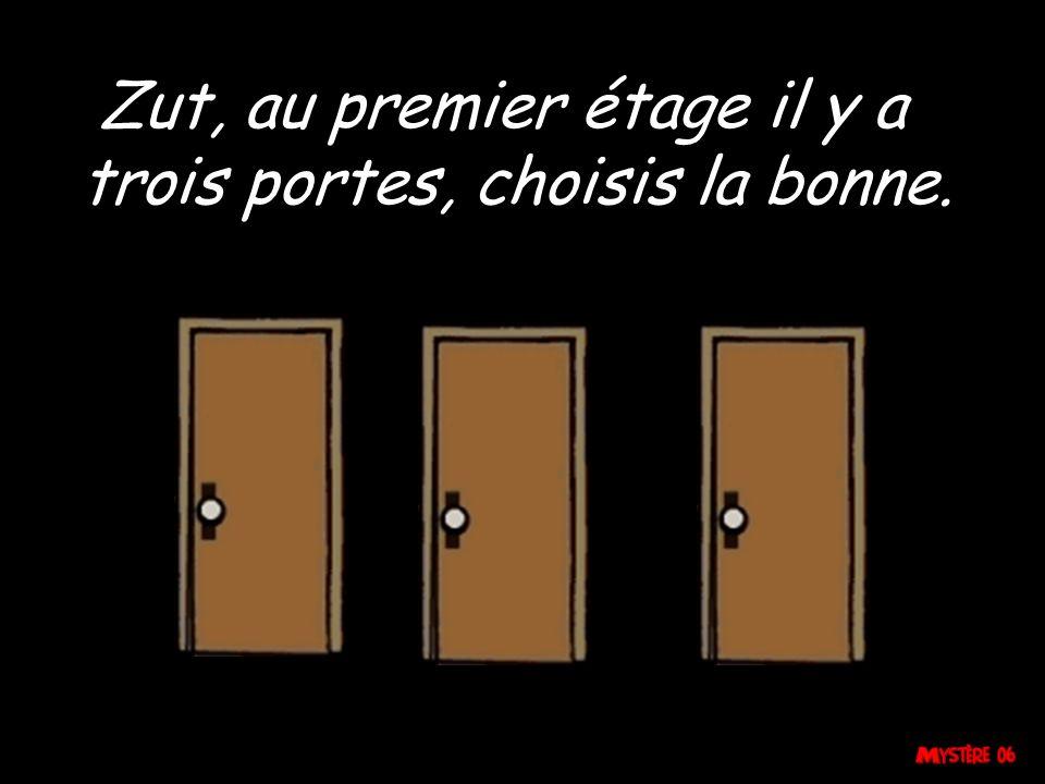 Zut, au premier étage il y a trois portes, choisis la bonne.