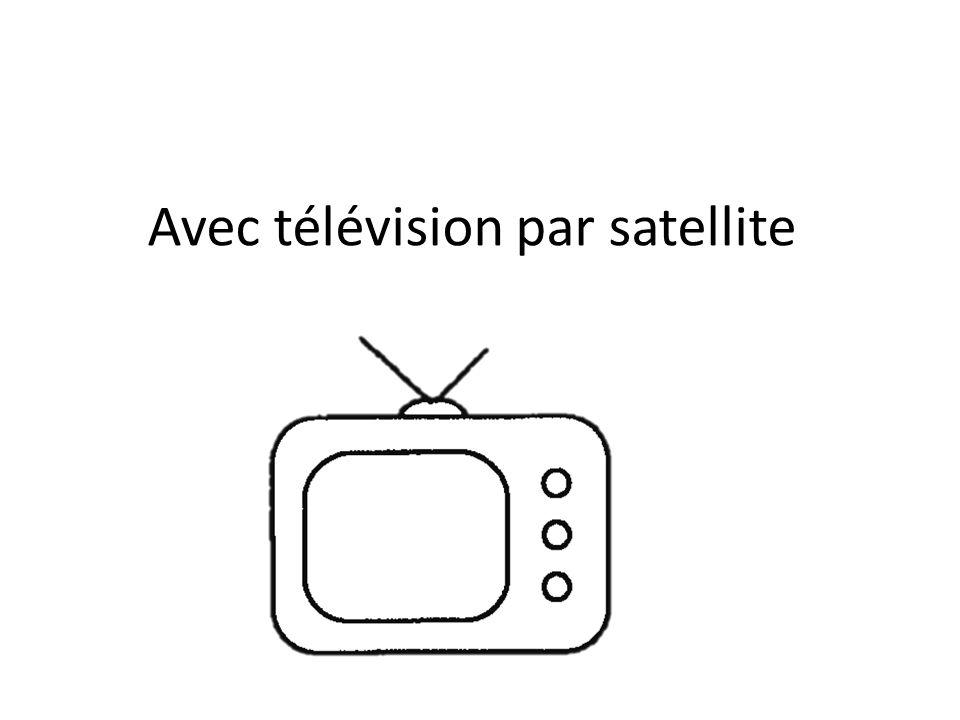 Avec télévision par satellite