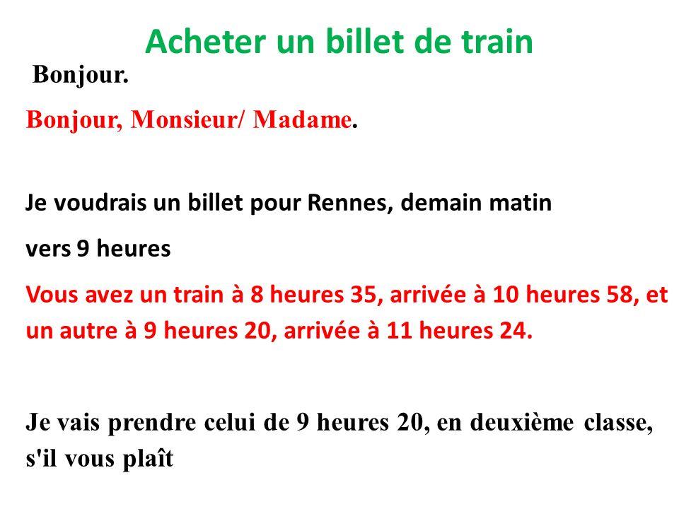 Acheter un billet de train