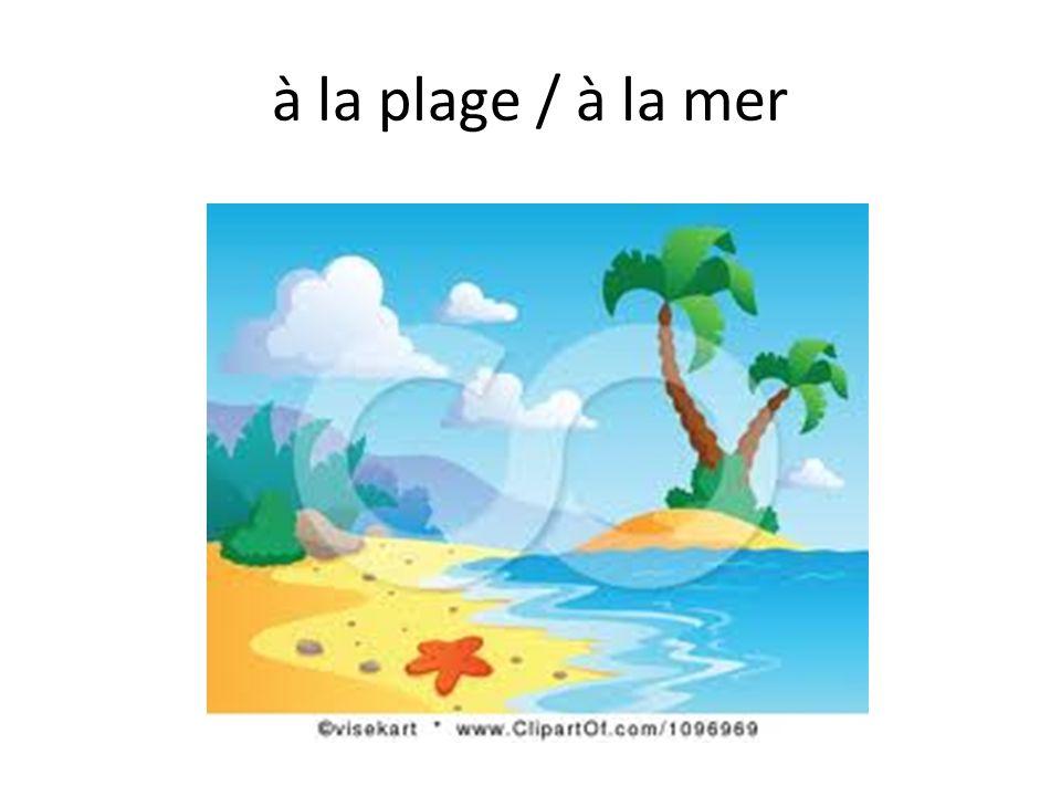 à la plage / à la mer