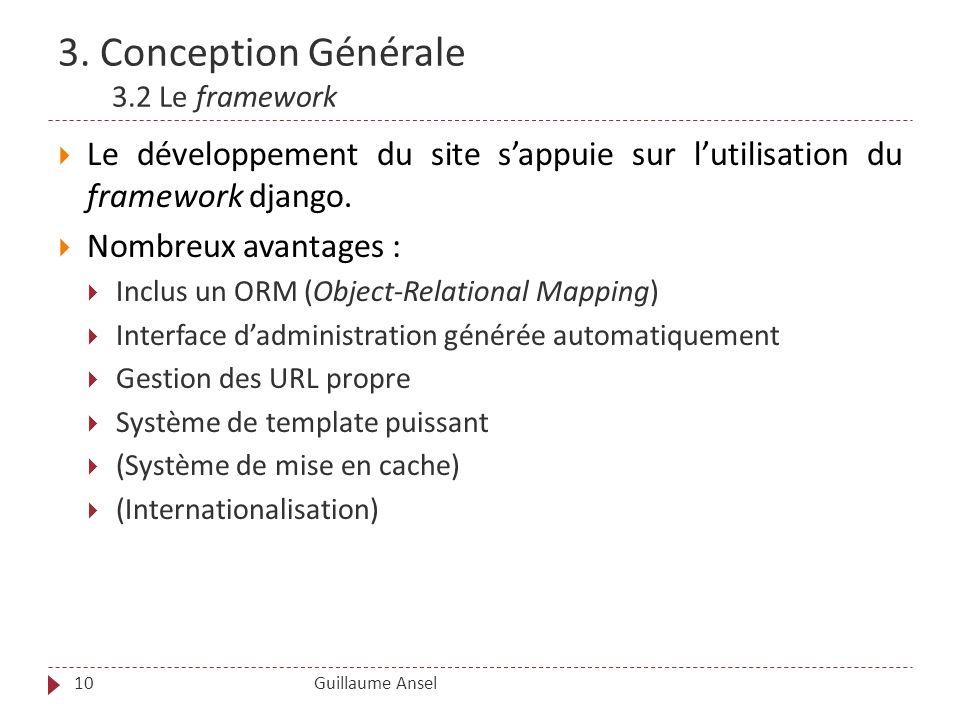 3. Conception Générale 3.2 Le framework