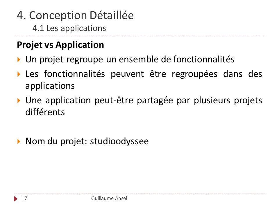 4. Conception Détaillée 4.1 Les applications