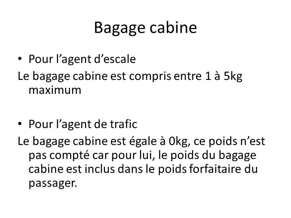 Bagage cabine Pour l'agent d'escale