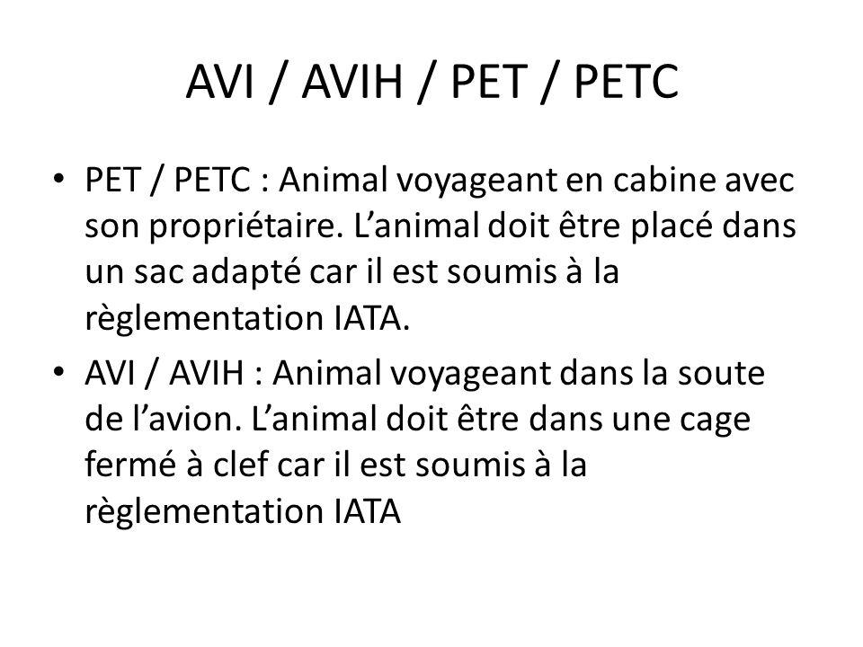 AVI / AVIH / PET / PETC
