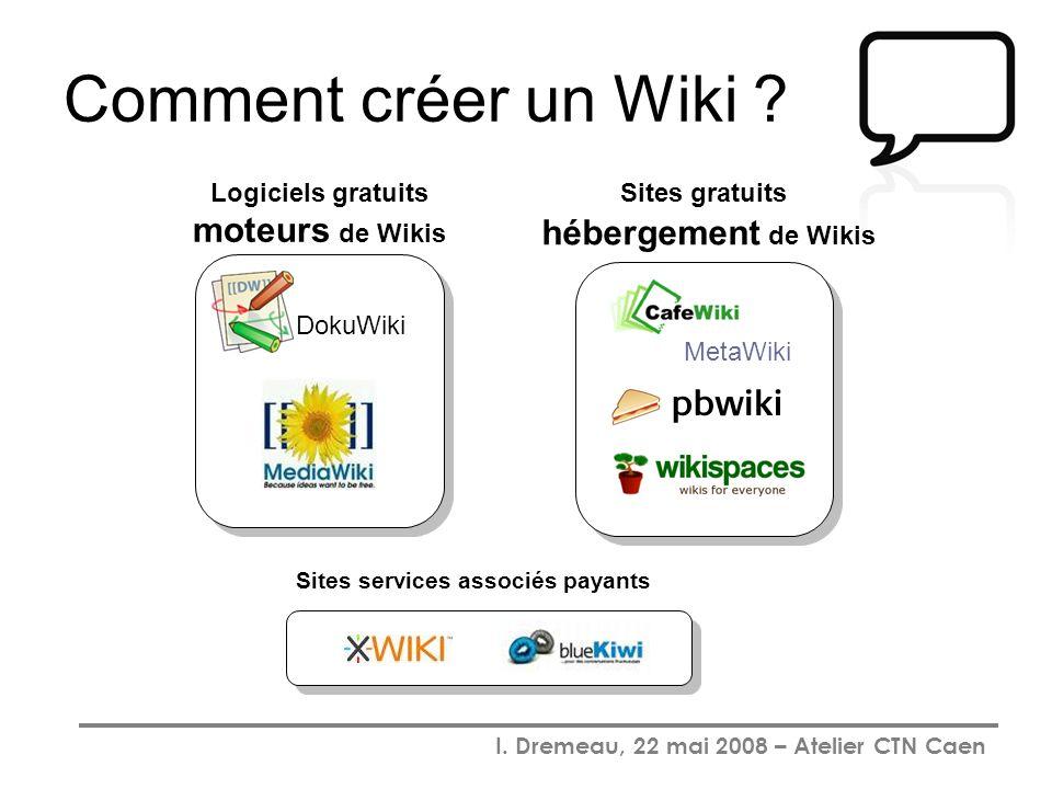 Comment créer un Wiki Sites gratuits hébergement de Wikis