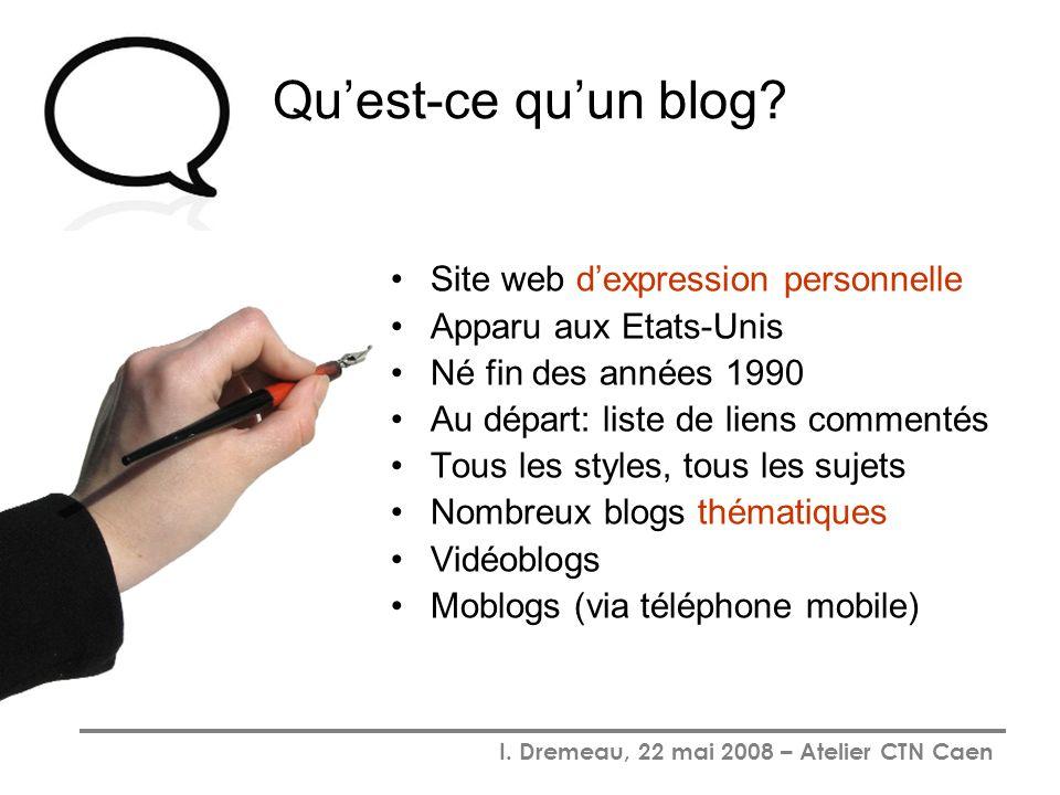 Qu'est-ce qu'un blog Site web d'expression personnelle