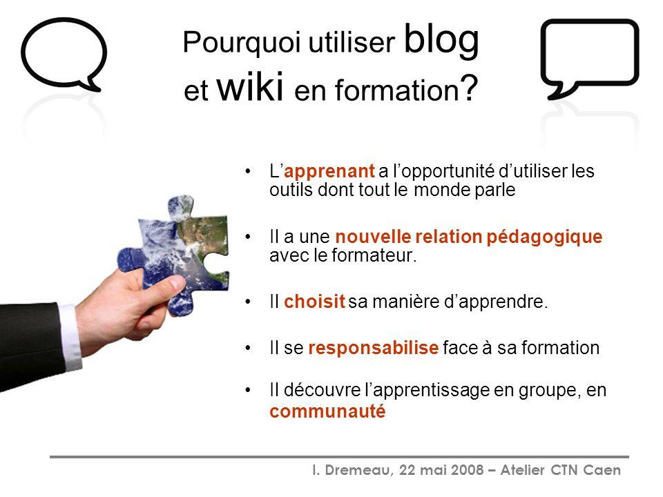 Pourquoi utiliser blog et wiki en formation