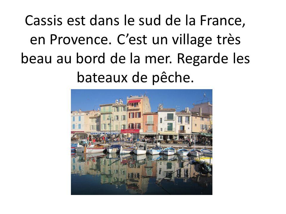 Cassis est dans le sud de la France, en Provence