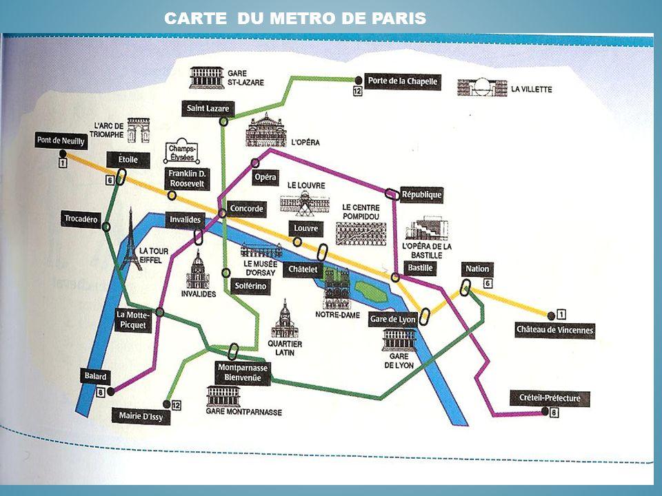 Carte du metro de paris